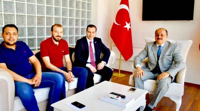 TİCARET ODASI BAŞKANINDAN KAYMAKAM MEHMET TÜRK'E ZİYARET