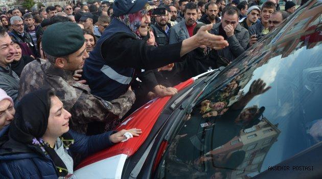 POLİS MEMURU ALİ ERGÜN'Ü SON YOLCULUĞUNA BİNLER UĞURLADI