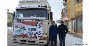 Ilgın'dan 2017 yılının ilk yardım tırı Halep'lilere gönderildi.