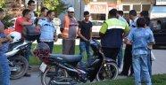 GASP EDİLEN MOTOR POLİSİ ALARMA GEÇİRDİ
