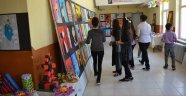 Öğrencilerin  resim sergisi büyük beğeni topladı