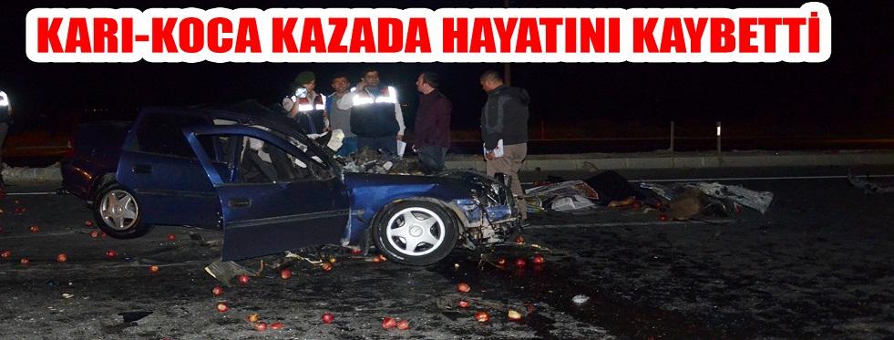 Elma Yüklü Kamyon Otomobil İle Çarpıştı: 2 Ölü 1 Yaralı