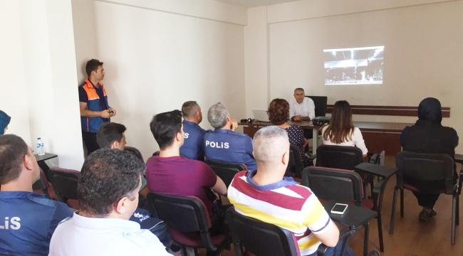 AKŞEHİR POLİSİNE 'kbrn' Eğitimi Verildi