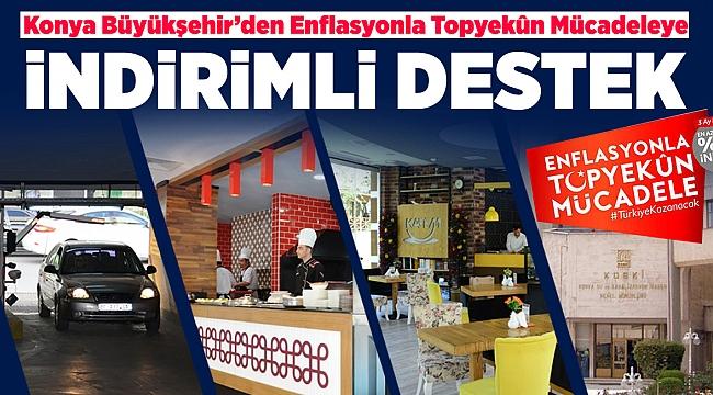 Konya Büyükşehir'den Enflasyonla Topyekûn Mücadeleye İndirimli Destek
