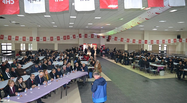 CHP SULTANDAĞI'NDA  ADAY TANITIM TOPLANTISI YAPTI