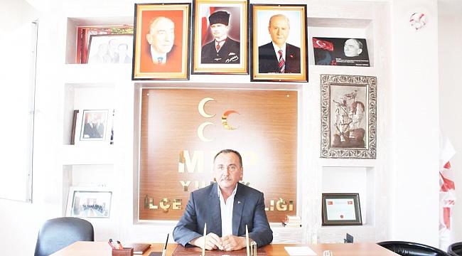 MHP YUNAK İLÇE BAŞKANI ÇİL'DEN 50.YIL MESAJI