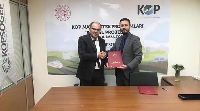 """ENGELLERİNDEN KOP PROJESİ İMZALANDI"