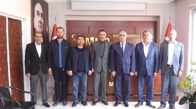 MHP YUNAK'DAN  REMZİ KARAARSLAN'A HAYIRLI OLSUN ZİYARETİ