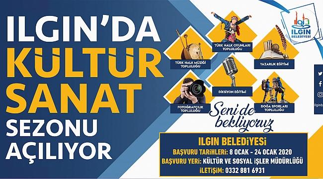 ILGIN'DA KÜLTÜR SANAT SEZONU AÇILIYOR!