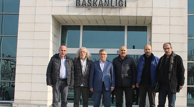 TURÇEV-DER'DEN BAŞKAN ESFENDİYAR'A ZİYARET