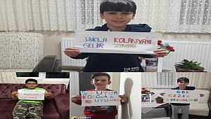 ÖĞRENCİLERDEN SOSYAL MEDYADA 'EVDE KAL' ÇAĞRISI