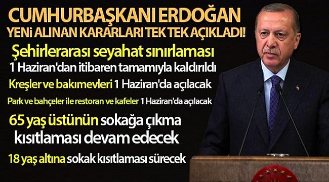 Cumhurbaşkanı Erdoğan yeni alınan kararları tek tek açıkladı
