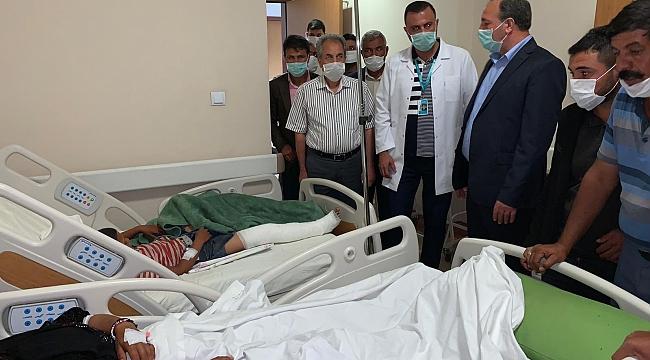 Şanlıurfa Milletvekilinden yaralılara ziyaret