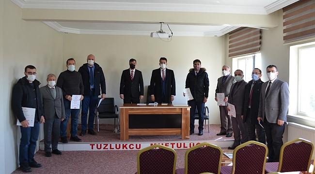 TUZLUKÇU'DA EĞİTİM DEĞERLENDİRME TOPLANTISI