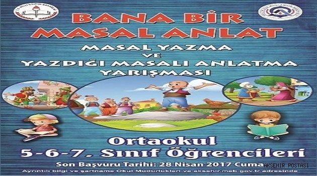 """""""MASAL YAZMA VE YAZDIĞI MASALI ANLATMA"""" YARIŞMASI"""