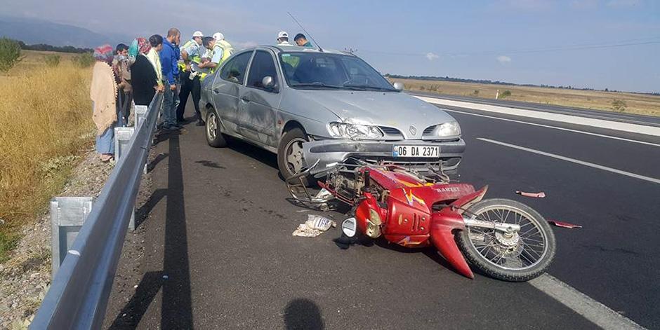 D-3oo karayolunda trafik kazası: 1 ölü